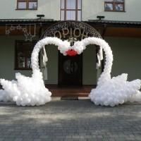 Лебеді з повітряних кульок (на Весілля) Львів