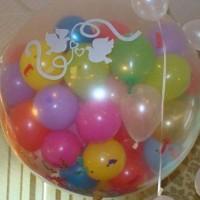 Куля-сюрприз (60см х 70см): всередині 160 кульок