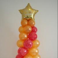 Ялинка з повітряних кульок (На Новорічні свята)